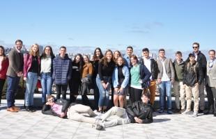 Estudantes da cidade de Little Rock visitam o roteiro turístico La Città