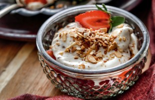 Na culinária, Creme de mascarpone com morango