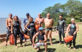 Projeto Nadando Pelos Cartões Postais | Primeiro treino de 2021 teve percurso até a Ilha das Pedras no Lago Guaíba