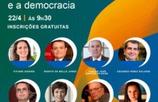 "Webinar gratuito ""Brasil – 521 anos e a democracia."""