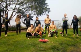 Projeto Nadando Pelos Cartões Postais participa de Maratona Aquática no litoral Catarinense
