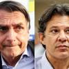 Jair Bolsonaro e Fernando Haddad vão disputar o segundo turno para presidente