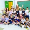 Rainha e princesas da Festa da Uva visitam Escola Municipal Cidade Nova