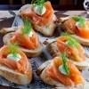Na culinária, Bruschetta de salmão