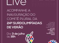 Comitê Plural da 24ª Surdolimpíadas de Verão será inaugurado nesta sexta-feira, 3 de julho