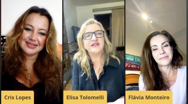 """Programa """"Talentos do Brasil"""" - Cris Lopes, Elisa Tolomelli e Flávia Monteiro, Divulgação"""