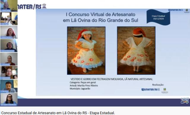 I Concurso Virtual de Artesanato em Lã, Divulgação