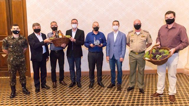 Cerimônia foi prestigiada por autoridades e público reduzido em função da pandemia Crédito: Wagner Meneguzzi divulgação