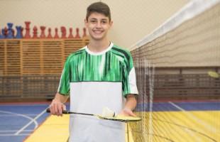 Atleta Gabriel Casara representará o Recreio da Juventude/Murialdo de Caxias do Sul no XXIX Campeonato Pan-Americano Júnior de Badminton 2021