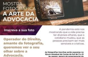 Advogados e operadores do Direito têm até esta sexta-feira para se inscreverem na Mostra Fotográfica do Mês do Advogado de Caxias do Sul