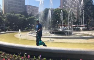 Semma realiza manutenção da Praça Dante Alighieri
