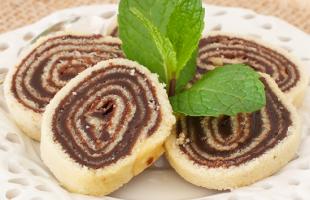 Na culinária, Bolo de rolo de chocolate