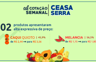Ceasa Serra: preço da melancia sobe 56,5% nesta semana