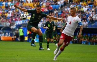 Dinamarca e Austrália empatam, 1×1