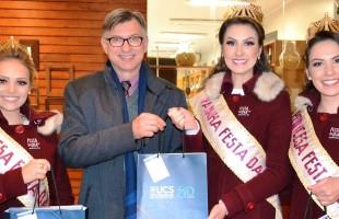 Rainha e princesas da Festa Nacional da Uva 2019 recebem premiação da UCS