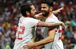 Espanha ganha no sufoco com gol do artilheiro Diego Costa