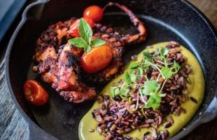 Na culinária, Polvo com arroz sete grãos