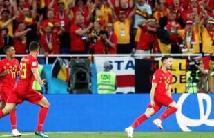 Bélgica vence os inventores do futebol Inglaterra e se classifica em primeiro. Pegará o Japão segunda