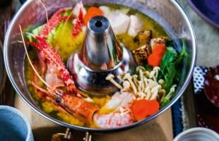 Na culinária, Yosenabe (ensopado de frutos do mar e vegetais)