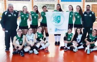 Atletas do Recreio da Juventude, de Caxias do Sul, vencem os três jogos da Primeira Fase do Campeonato Estadual Infantil de Voleibol Feminino