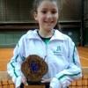 Tenista do Recreio da Juventude, de Caxias do Sul, é a campeã da Copa ALJ, categoria 10 anos feminino