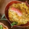 Na culinária, Rigatoni com lagostim e farofa crocante de azeitona