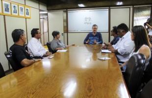 Direção do Sindiserv faz visita institucional ao presidente Cassina