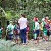 Crianças participam de roteiro de educação ambiental no Jardim Botânico