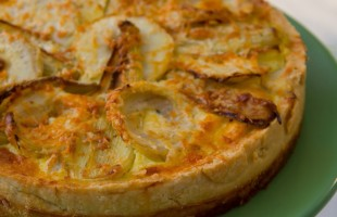 Na culinária, Torta de alcachofra com erva doce e queijo canastra