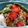 Na culinária, Salada de quinoa com aspargos frescos e burrata