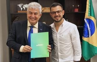 Ministro Marcos Pontes recebe CEO da Gramado Summit