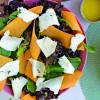 Na culinária, Salada de folhas com abóbora e queijo da Canastra