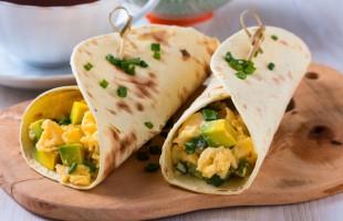 Na culinária, Wrap de ovo mexido e abacate picante