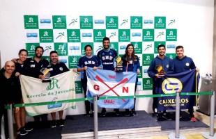 Natação do Recreio da Juventude, de Caxias do Sul, conquista três troféus no Campeonato Estadual Mirim e Petiz de Inverno