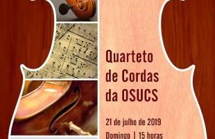 Concertos ao Entardecer: Quarteto de Cordas da OSUCS é atração deste domingo