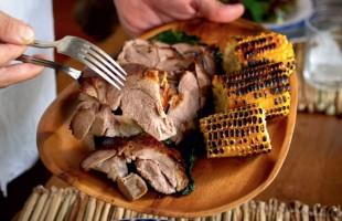 Na culinária, Ovelha assada com milho e radiche