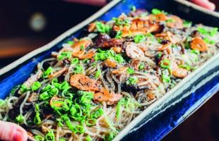 Na culinária, Macarrão frio de batata-doce