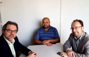 Presidente e vice-presidente do MDB Caxias se reúnem com presidente da UAB