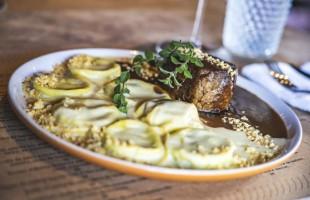 Na culinária, Ravióli de Búfala com Fonduta de Parmesão