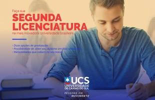 UCS | Programa de Segunda Licenciatura: 12 opções de ingresso com inscrições abertas até 23 de setembro