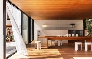 Pavilhão Branco destaca-se pela pureza das formas e materiais