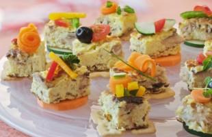 Na culinária, Canapé com sardinha