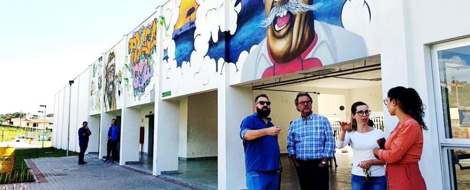 Secretário da Cultura visita Centro de Artes e Esportes