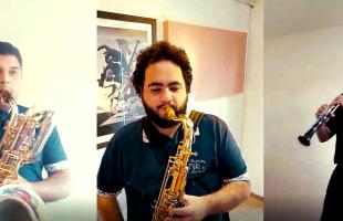 Orquestra Municipal de Sopros grava apresentação em homenagem aos 130 anos de Caxias do Sul