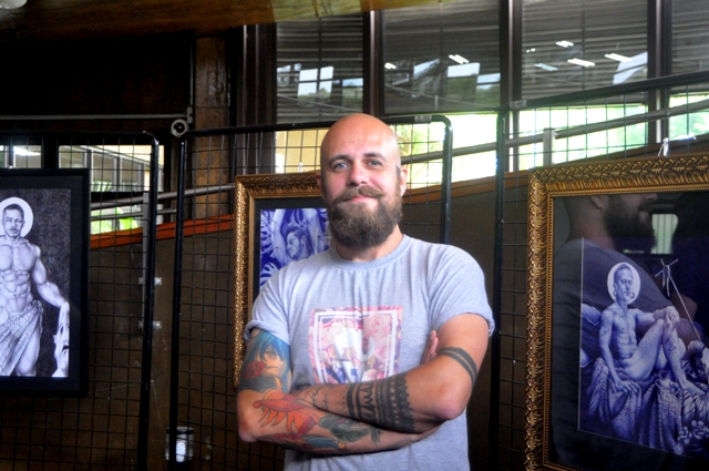 Artista Plástico Rafael Dambrós, Foto Laudir Dutra