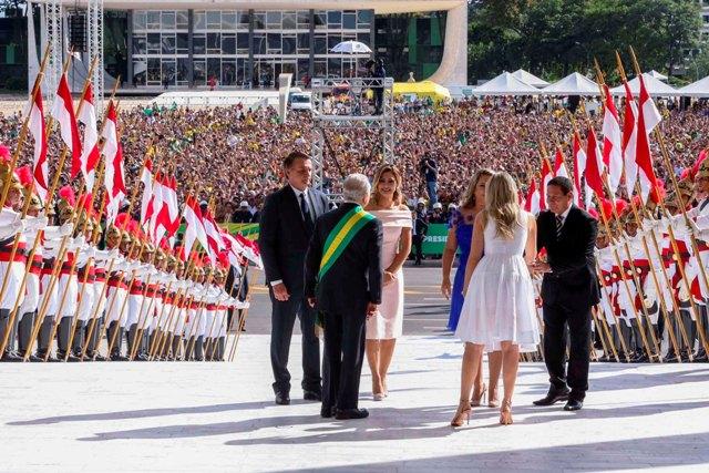 Brasilia DF 01 01 2019 Michel Temer recebe o presidente Jair Bolsonaro no Palácio do Planalto, para cerimônia de transmissão da Faixa Presidencial.Valter Campanato/Ag Brasil