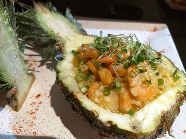Risoto Thai de camarão com abacaxi - Sakai - Divulgação