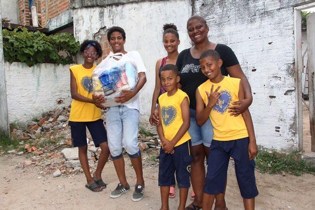 Juliana Correa e a familia