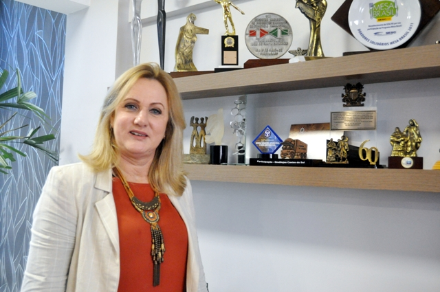 Presidente do Sindilojas Idalice Mancini - Foto Laudir Dutra